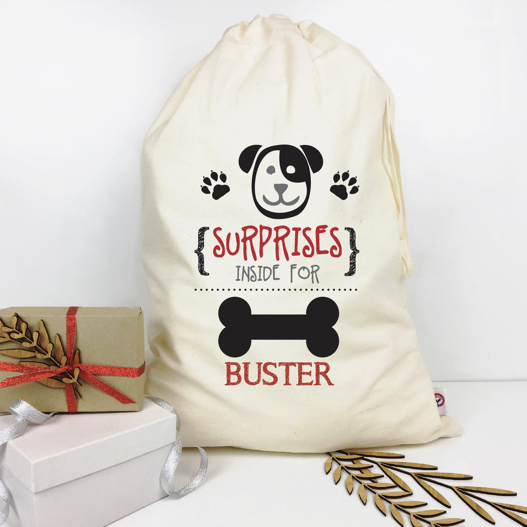 Dog Personalised Santa Sack - Lil Sunshine Collections