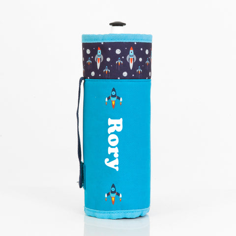 Rocket Personalised Drink Bottle Holder - Lil Sunshine Collections