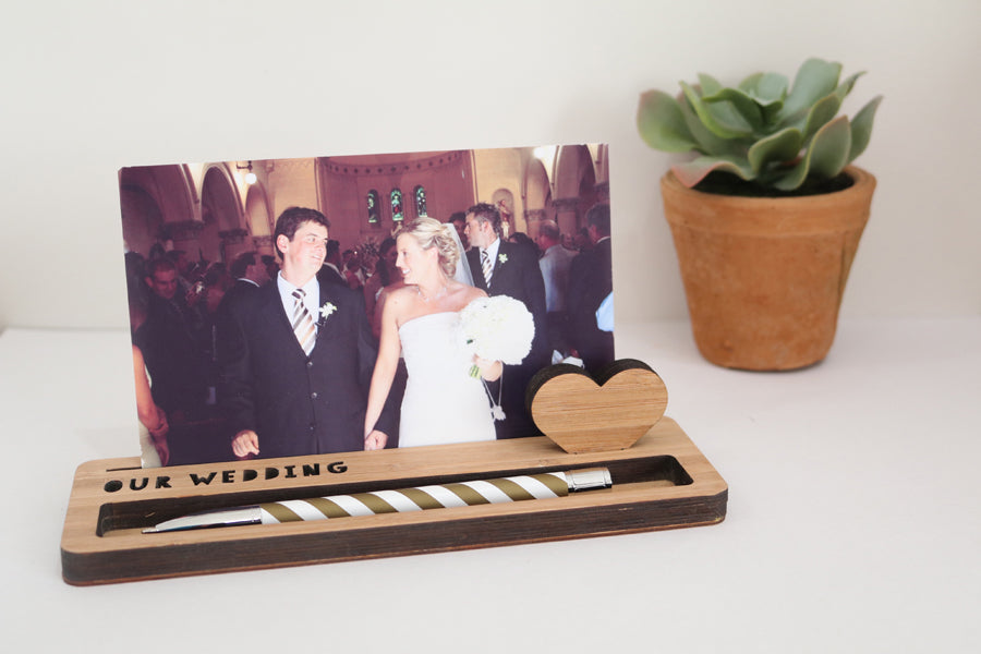 Medium Photo Stand - Our Wedding - Lil Sunshine Collections
