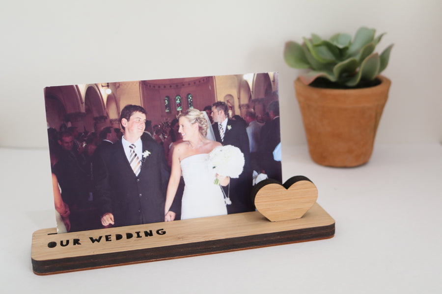 Small Photo Stand - Our Wedding - Lil Sunshine Collections