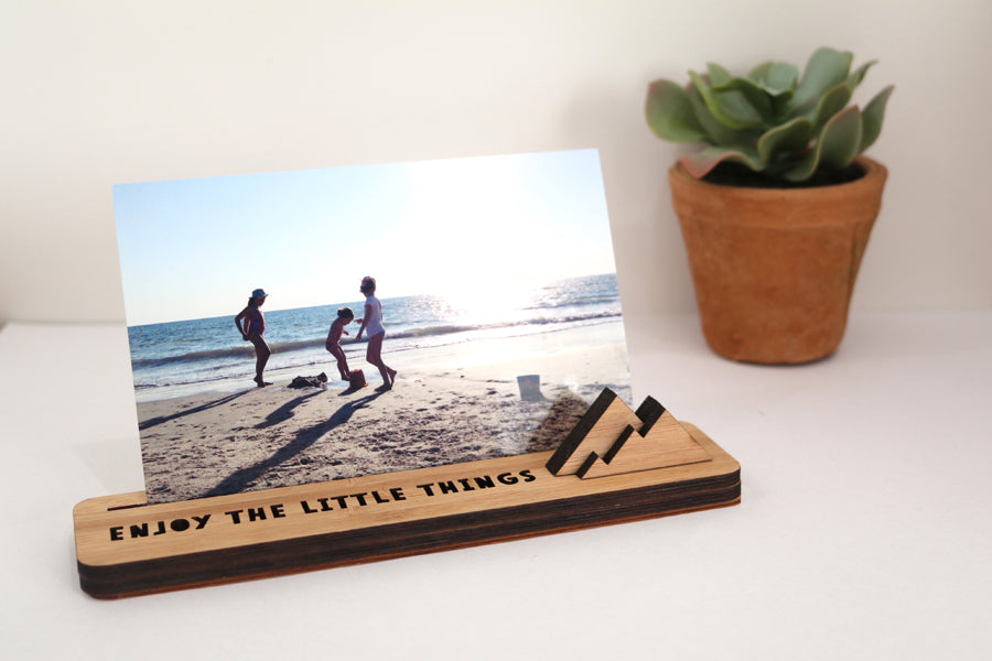 Small Photo Stand - Enjoy The Little Things - Lil Sunshine Collections