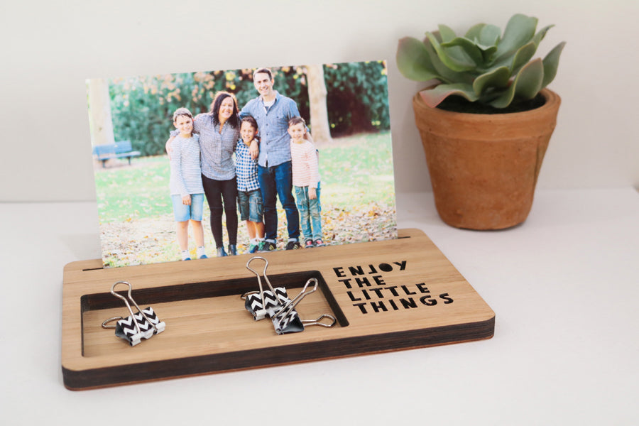 Large Photo Stand - Enjoy the Little Things - Lil Sunshine Collections