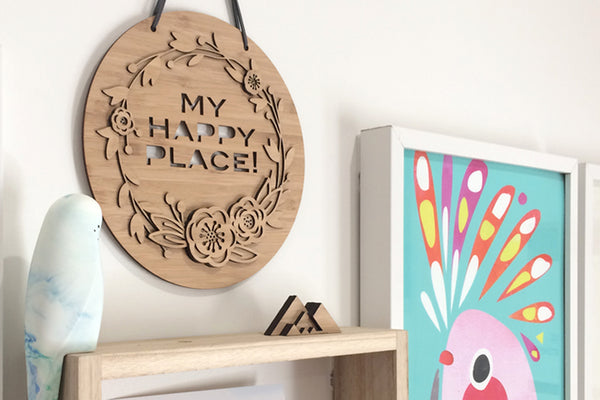 My Happy Place Wall Hanging - Lil Sunshine Collections