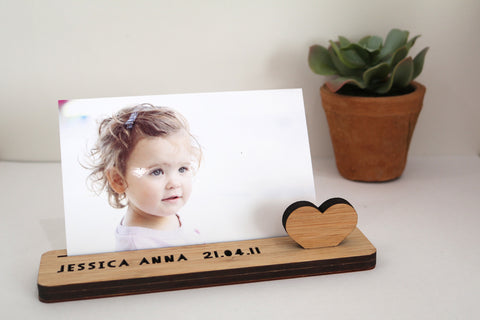 Small Photo Stand - Personalised - Lil Sunshine Collections