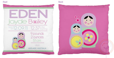 Eden Personalised Birth Chart Cushion - Lil Sunshine Collections