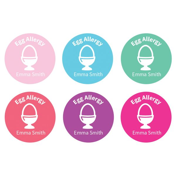Allergy Labels - Egg – Confetti - Lil Sunshine Collections