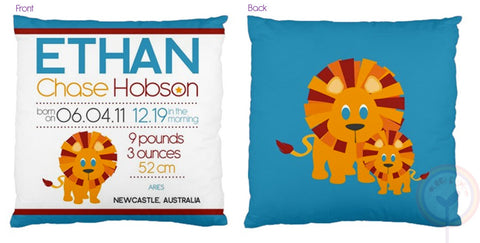 Ethan Personalised Birth Chart Cushion - Lil Sunshine Collections