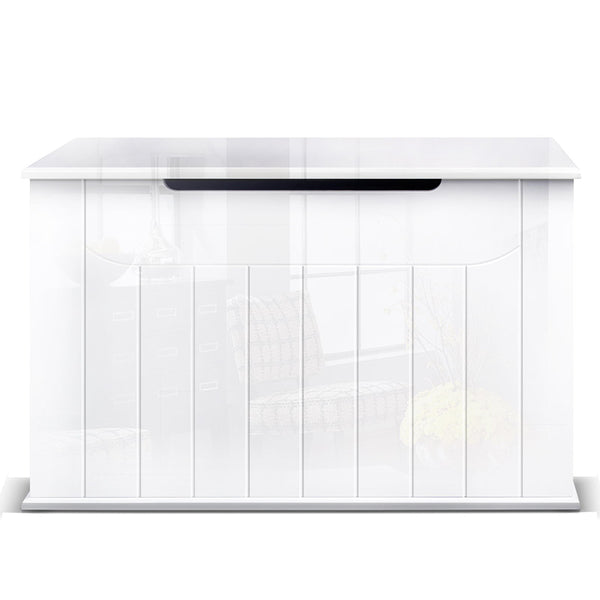 Baby Toy Box Nursery Wood Storage Chest Organizer White - Lil Sunshine Collections