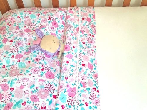 Fairy Garden Floral Cot/Crib Sheet Set - Lil Sunshine Collections