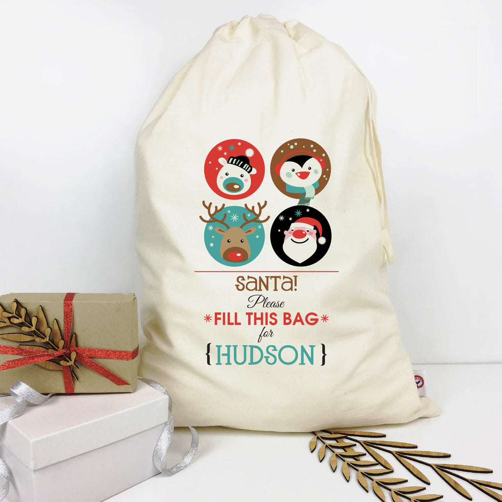 Fill This Bag Personalised Santa Sack - Lil Sunshine Collections