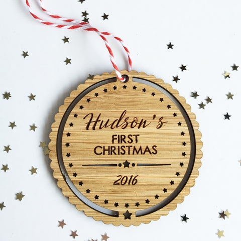 Baby's First Christmas Ornament - Boys - Lil Sunshine Collections