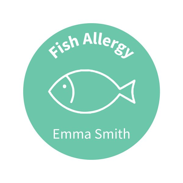 Allergy Labels - Fish – Confetti - Lil Sunshine Collections