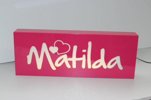 Personalised Night Light - Fushsia Pink - Lil Sunshine Collections