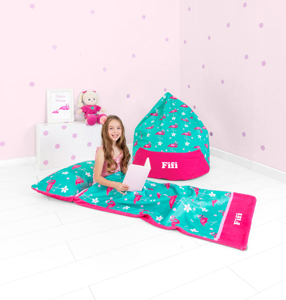 Flamingo Personalised Oversized Bean Bag - Lil Sunshine Collections