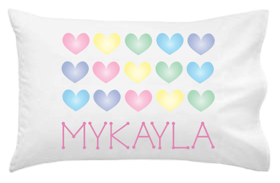 Hearts Personalised Pillowcase - Lil Sunshine Collections
