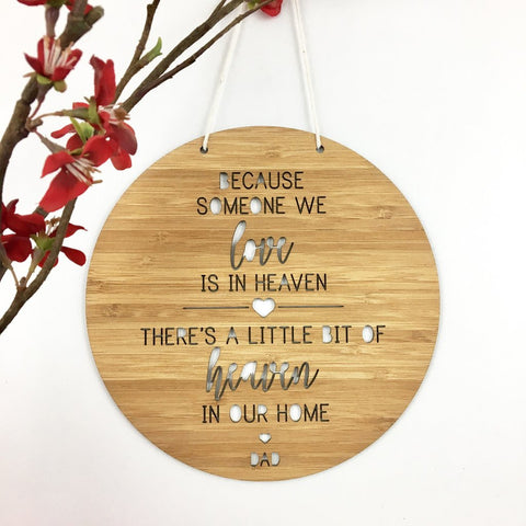 Heaven in our Home Personalised Wall Hanging - Lil Sunshine Collections