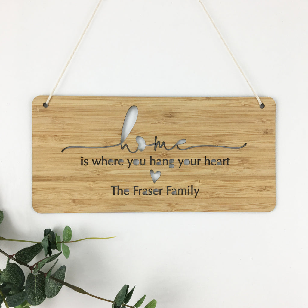 Home Simple Script Personalised Wall Hanging - Lil Sunshine Collections