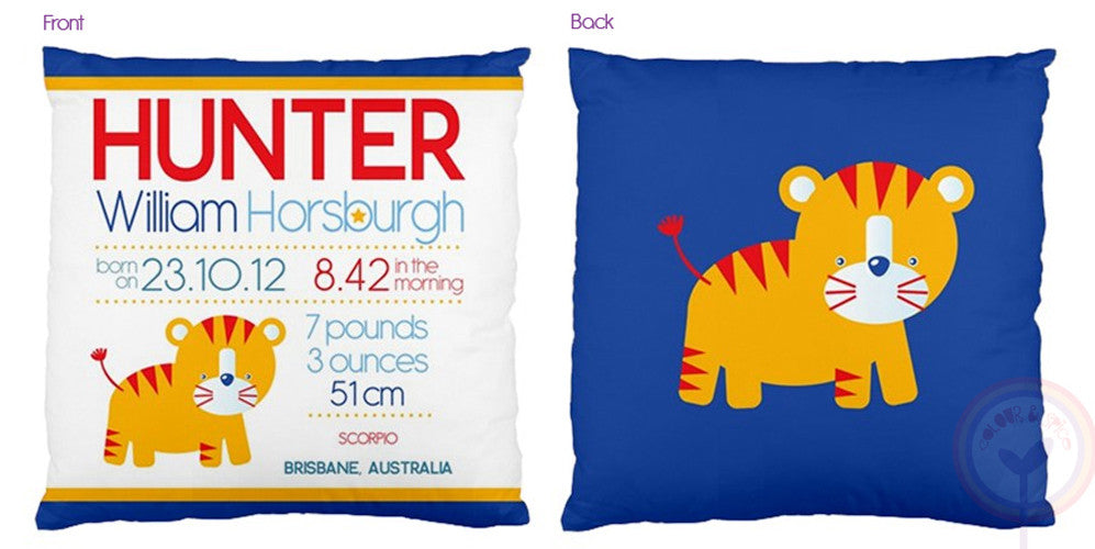 Hunter Personalised Birth Chart Cushion - Lil Sunshine Collections
