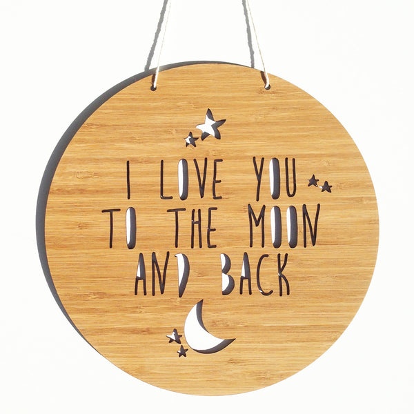 To The Moon And Back Bamboo Wall Hanging - Lil Sunshine Collections
