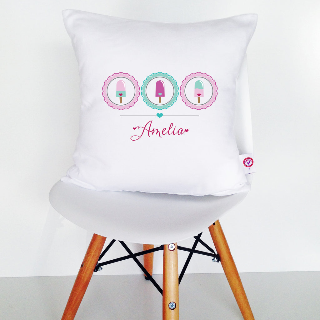 Icecream Personalised Cushion Cover - Lil Sunshine Collections