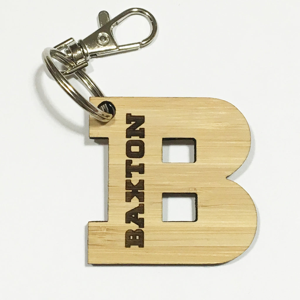 Personalised Initial Bag Tag Keyring - Lil Sunshine Collections