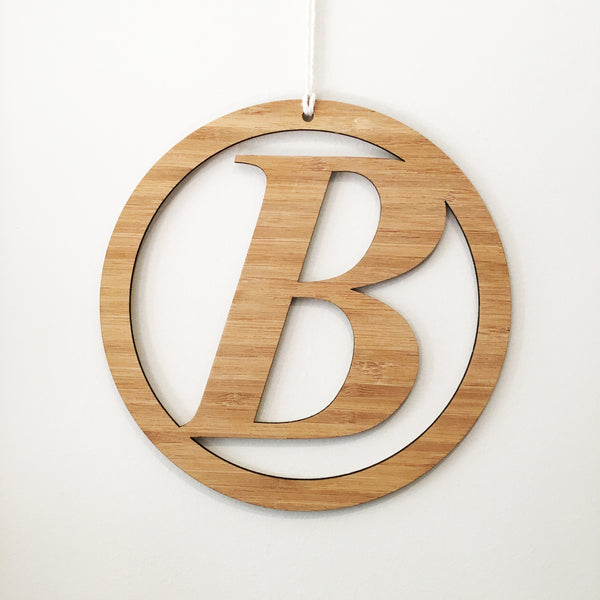 Italic Initial Wall Hanging - Lil Sunshine Collections