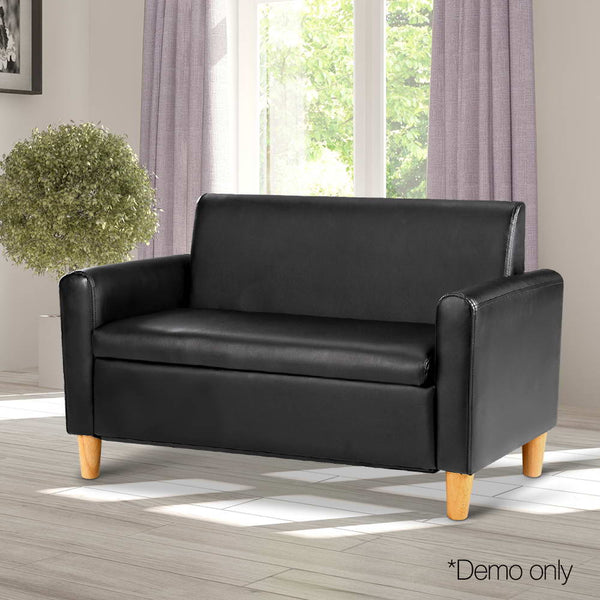 Kids Double Couch - Black - Lil Sunshine Collections