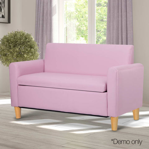 Kids Double Couch - Pink - Lil Sunshine Collections