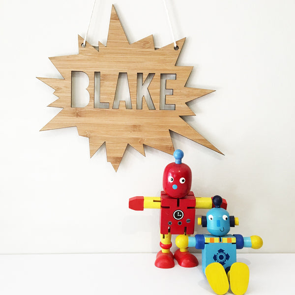 Kapow Personalised Wall Hanging - Lil Sunshine Collections