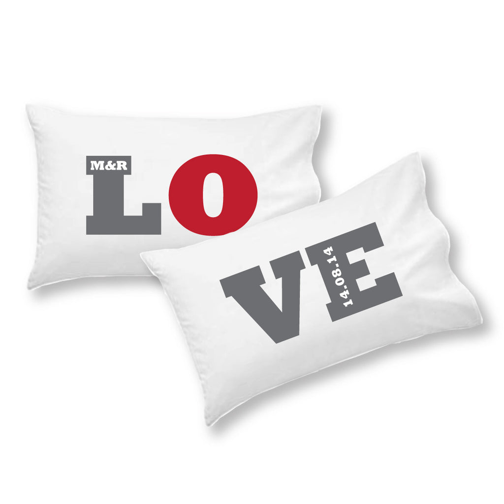 L.O.V.E Personalised Pillowcase Set - Lil Sunshine Collections