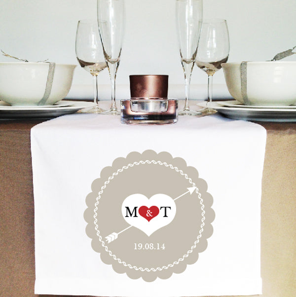 Lace Heart Table Runner - Lil Sunshine Collections