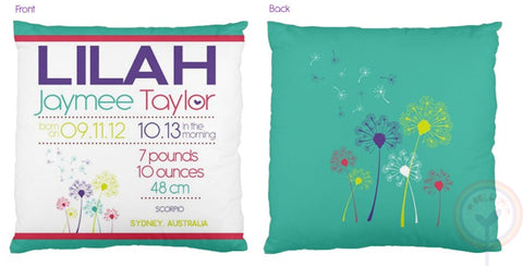 Lilah Personalised Birth Chart Cushion - Lil Sunshine Collections