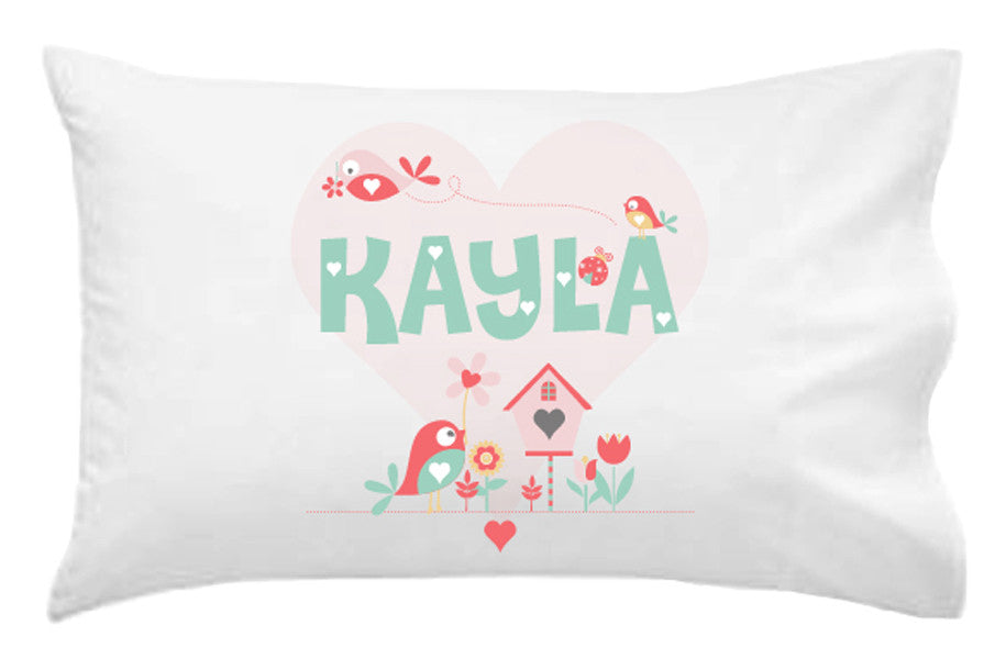 Lovebirds Personalised Pillowcase - Lil Sunshine Collections