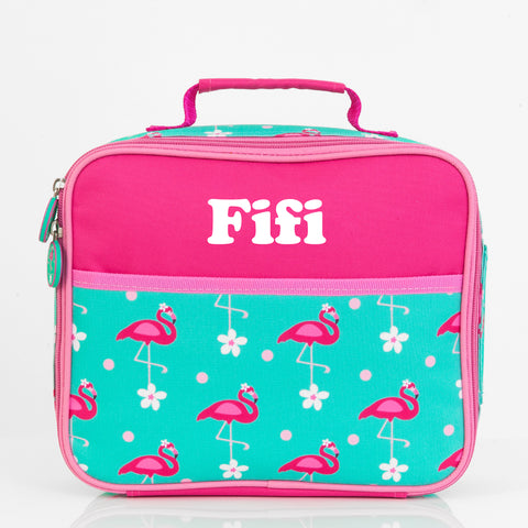 Flamingo Personalised Lunch Bag - Lil Sunshine Collections