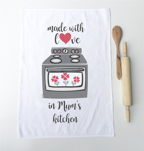 Made with Love Personalised Tea Towel - Lil Sunshine Collections