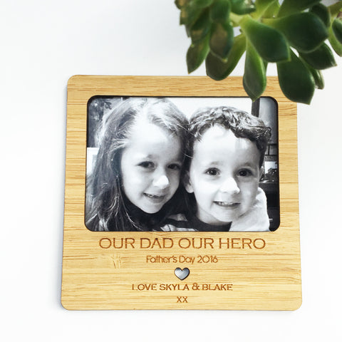 Personalised Bamboo Magnetic Frame - Lil Sunshine Collections