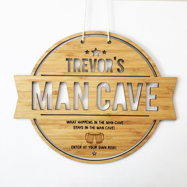 Man Cave Personalised Wall Hanging - Lil Sunshine Collections