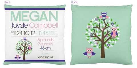 Megan Personalised Birth Chart Cushion - Lil Sunshine Collections