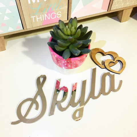 Personalised Mirror Script Names - Lil Sunshine Collections