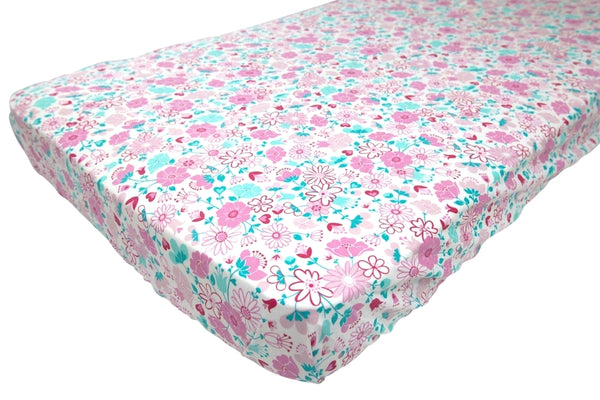 Fairy Garden Floral Fitted Cot/Crib Sheet - Lil Sunshine Collections