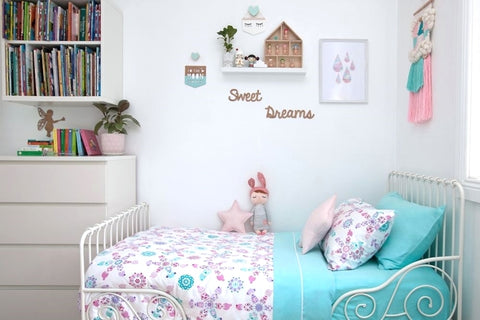 Doll Picnic Single Doona/Quilt Cover Set - Lil Sunshine Collections