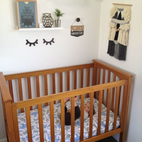 Safari Fitted Cot/Crib Sheet - Lil Sunshine Collections