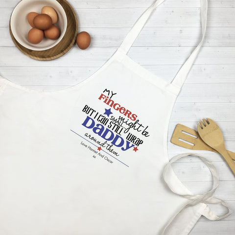 My Fingers Might Be Small Personalised Apron - Lil Sunshine Collections