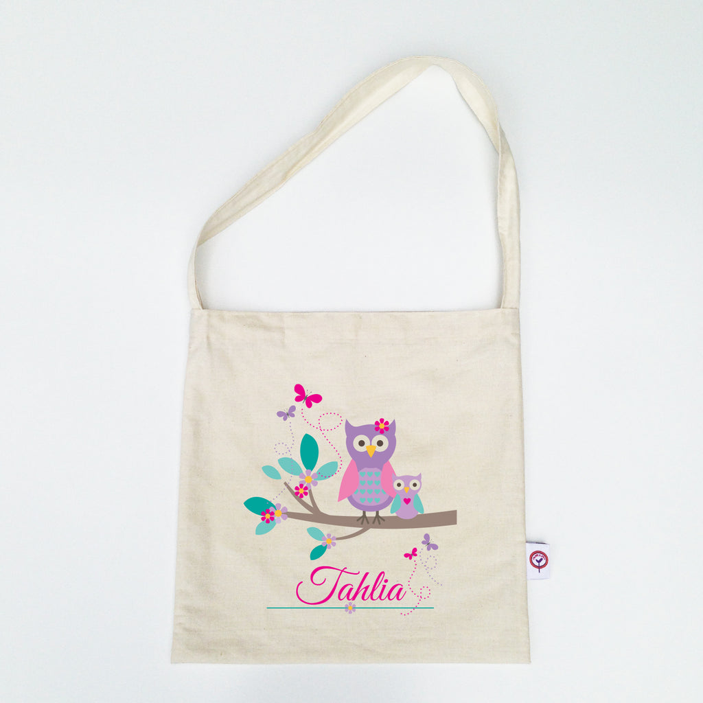 Cute Owl Personalised Library Bag - Lil Sunshine Collections