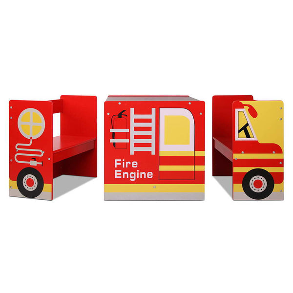 Kids Fire Truck Table & Chair Set - Lil Sunshine Collections
