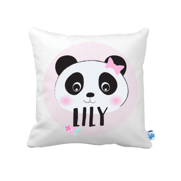 Panda Girls' Personalised Cushion - Lil Sunshine Collections