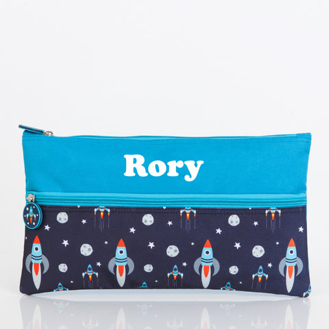 Rocket Personalised Pencil Case - Lil Sunshine Collections