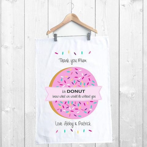Donut Mother's Day Personalised Tea Towel - Lil Sunshine Collections