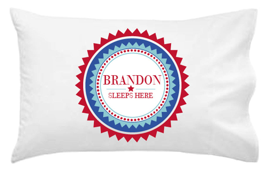 Boys' Plaque Personalised Pillowcase - Lil Sunshine Collections