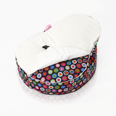 Bubble White Bean Bag